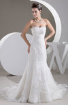 Mermaid Bridal Gowns Lace Backless Elegant Formal Full Figure Low Back