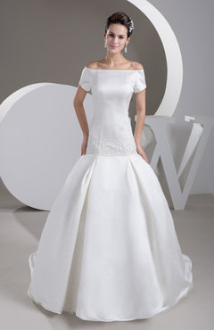 White with Sleeves Bridal Gowns Inexpensive Country Beaded Glamorous Full Figure