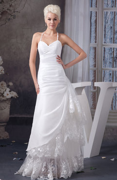 White Allure Bridal Gowns Lace Modern Summer Elegant Formal Trumpet Low Back