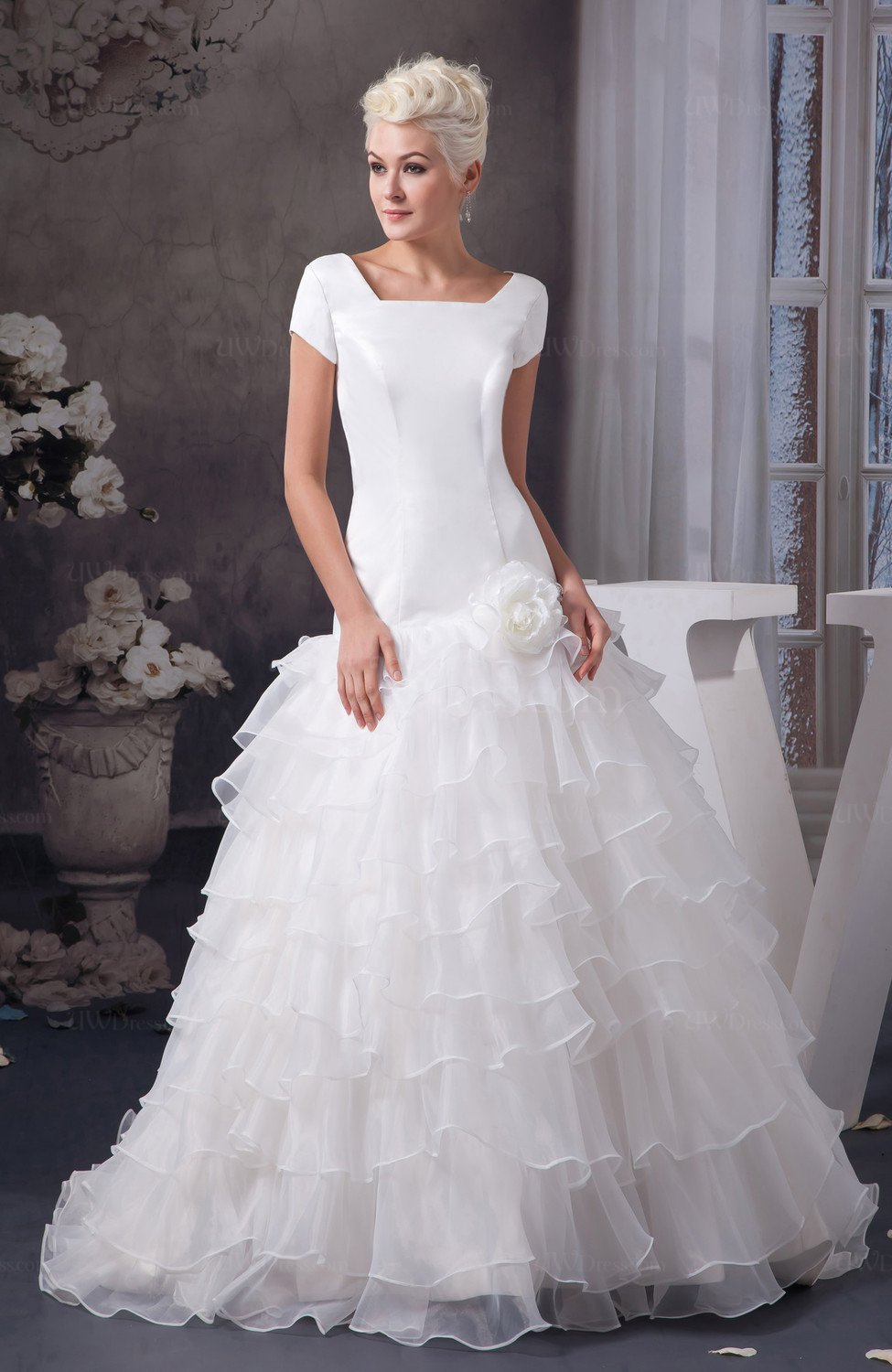 With Sleeves Bridal Gowns Spring Cinderella Fall Western
