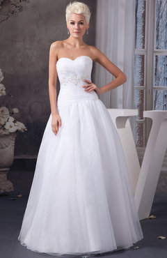 White Allure Bridal Gowns Inexpensive Sexy Cinderella Elegant Sweetheart Country