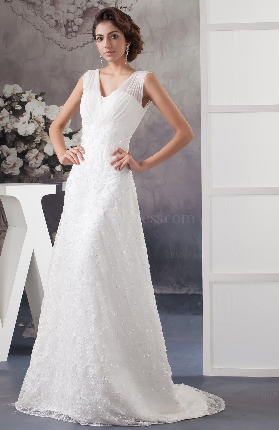 Lace bridal gowns allure disney princess illusion plus for Princess plus size wedding dresses