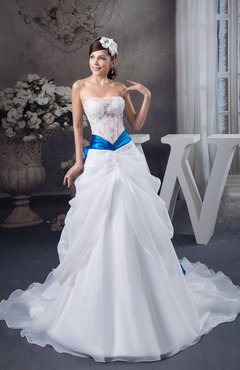White Allure Bridal Gowns Lace Luxury Low Back Plus Size Western Expensive