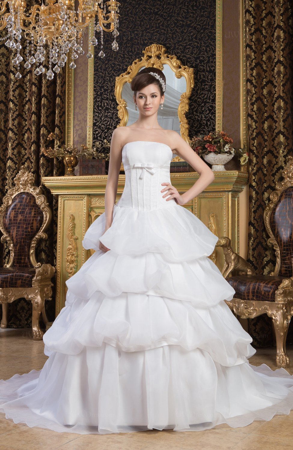 White Allure Bridal Gowns Ball Gown Luxury Full Figure Glamorous ...