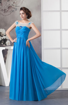 with Sleeves Bridesmaid Dress Chiffon Luxury Sheer Illusion Elegant Beaded