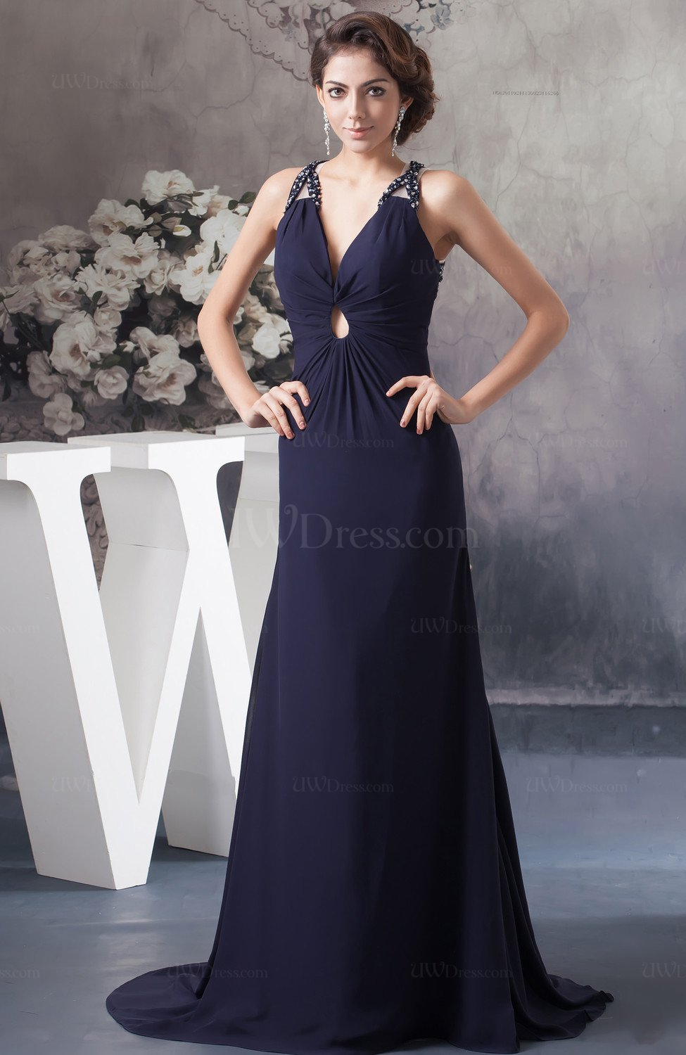 Long Mother Of The Bride Dress Inexpensive Spring