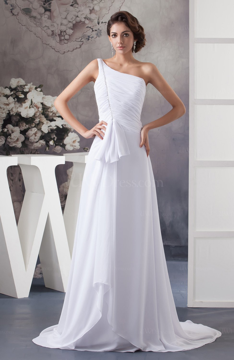 White inexpensive bridal gowns elegant unique classic for Wedding dresses with interesting backs