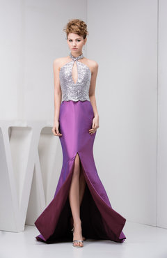 Mauve Mermaid Prom Dress Long Split Front Hot Formal Fall Hourglass Pretty