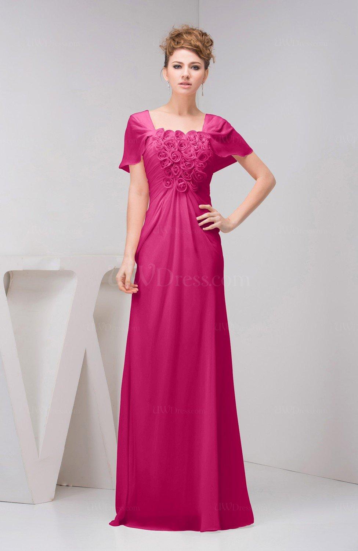 beetroot purple with sleeves bridesmaid dress chiffon fall