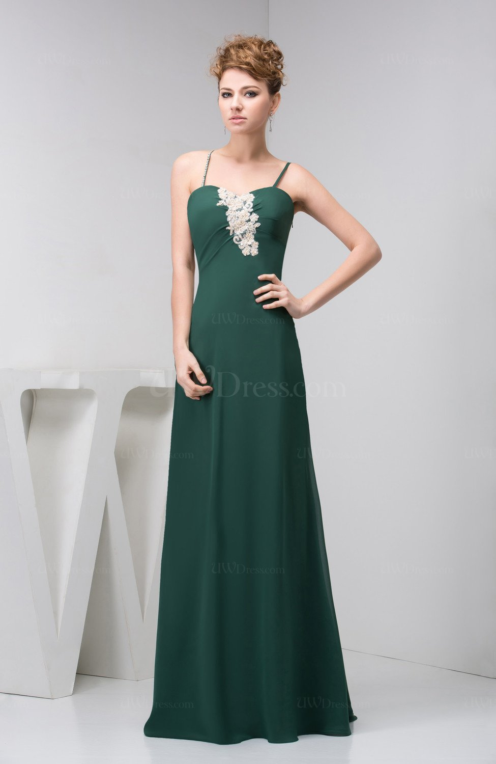 Hunter green inexpensive wedding guest dress unique for Cheap wedding dresses for guests