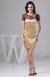 with Sleeves Bridesmaid Dress Beach Sheer Sexy Illusion Fashion Mini