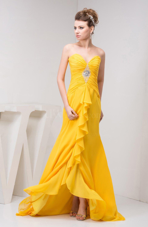 Tea Length Bridesmaid Dress Chiffon Pretty Natural Spring ...