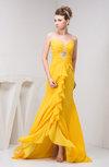 Tea Length Bridesmaid Dress Chiffon Pretty Natural Spring Trendy Classy