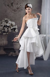 Long Bridesmaid Dress Beach Gothic Spring Taffeta Tiered Outdoor Formal