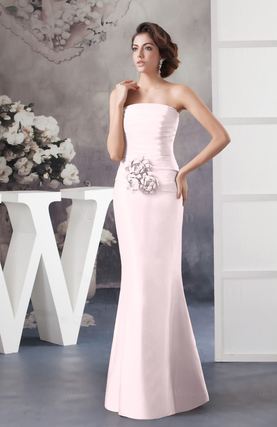 Blush Affordable Bridesmaid Dress Inexpensive Taffeta