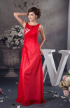 Lace Bridesmaid Dress Chiffon Chic Elegant Plus Size Beaded Sleeveless