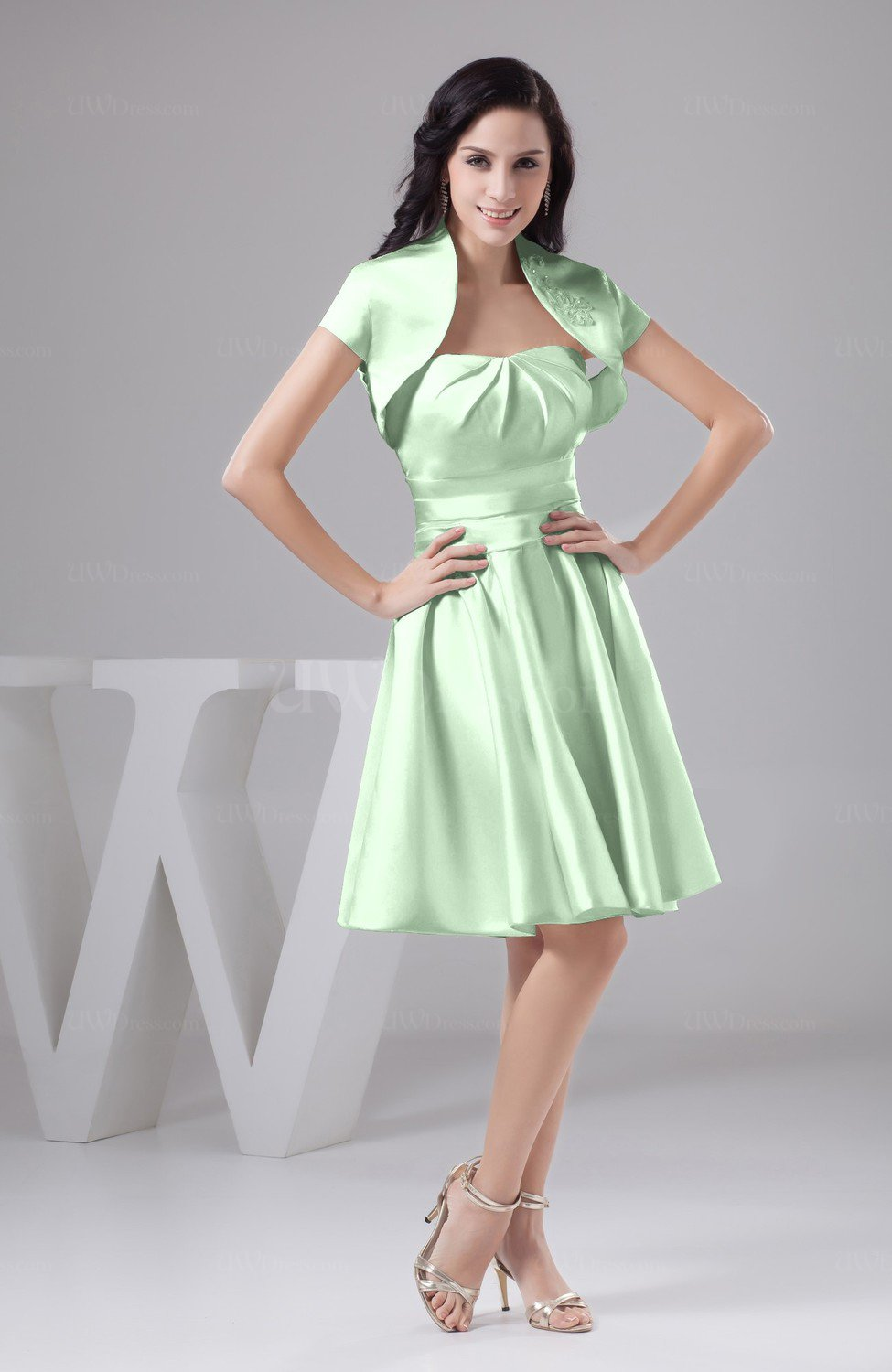 Light Green Inexpensive Bridesmaid Dress Affordable A Line