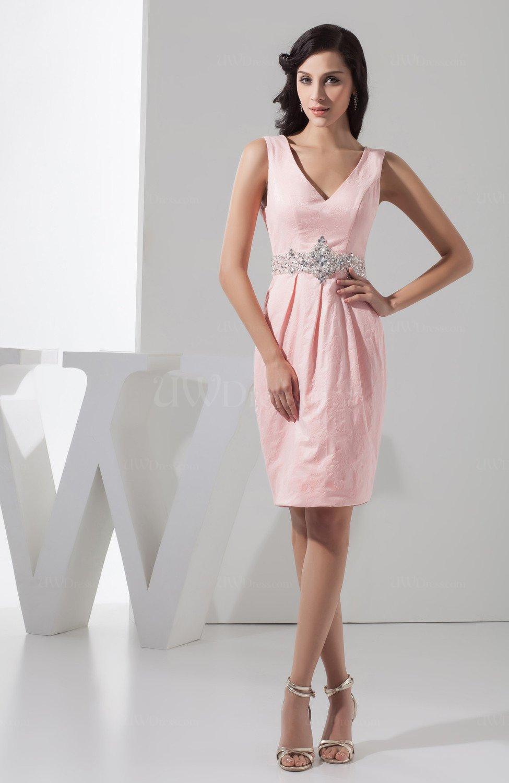 Short bridesmaid dress beach knee length tight apple for Knee length beach wedding dresses