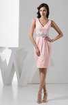 Short Bridesmaid Dress Beach Knee Length Tight Apple Trendy Plus Size