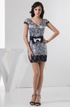 with Sleeves Cocktail Dress Summer Formal Short Sleeve Tight Plus Size