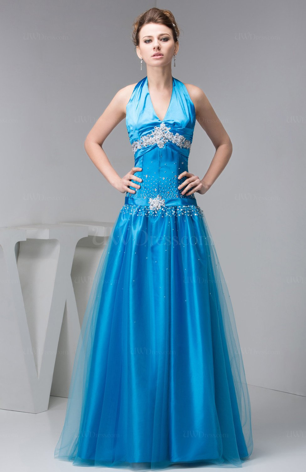 Popular Aqua Long Prom Dresses-Buy Cheap Aqua Long Prom