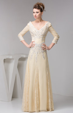 Long Sleeve Party Dress with Sleeves Classic Summer Chiffon Garden Classy