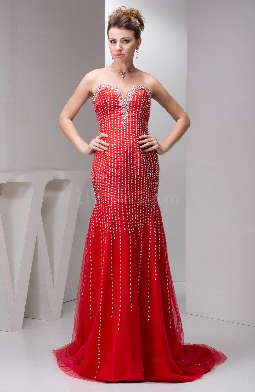 Trendiest Dresses Styles For Summer 2019: Red Long Evening Dress Formal Semi Formal Trendy Spring