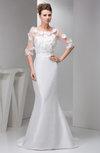 with Sleeves Prom Dress Mermaid Luxury Sheer Summer Formal Western
