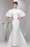 Mermaid Prom Dress with Sleeves High Neck Luxury Winter Trendy Classy