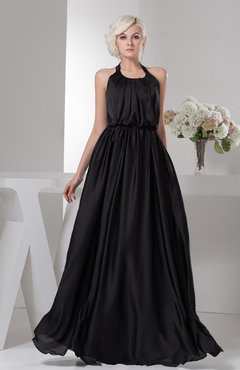 Black Beach Bridesmaid Dress Unique Open Back Destination Classic Plus Size Plain