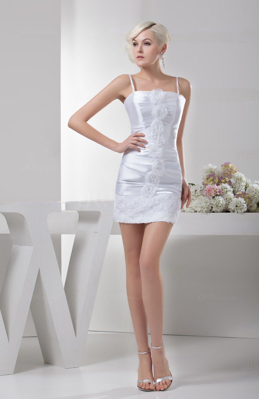 White Inexpensive Party Dress Short Elegant Natural Summer