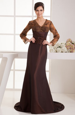 Lace Party Dress with Sleeves Traditional Western Amazing Mature Pretty