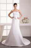 Inexpensive Bridal Gowns Fall Trumpet Glamorous Modern Strapless Backless