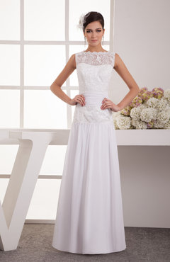 White Lace Evening Dress Long Chiffon Glamorous Plus Size Full Figure Spring