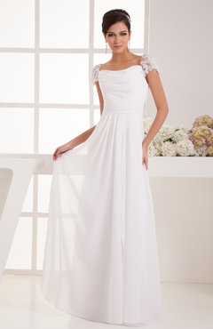 with Sleeves Bridesmaid Dress Chiffon Trendy Floor Length Amazing Classic