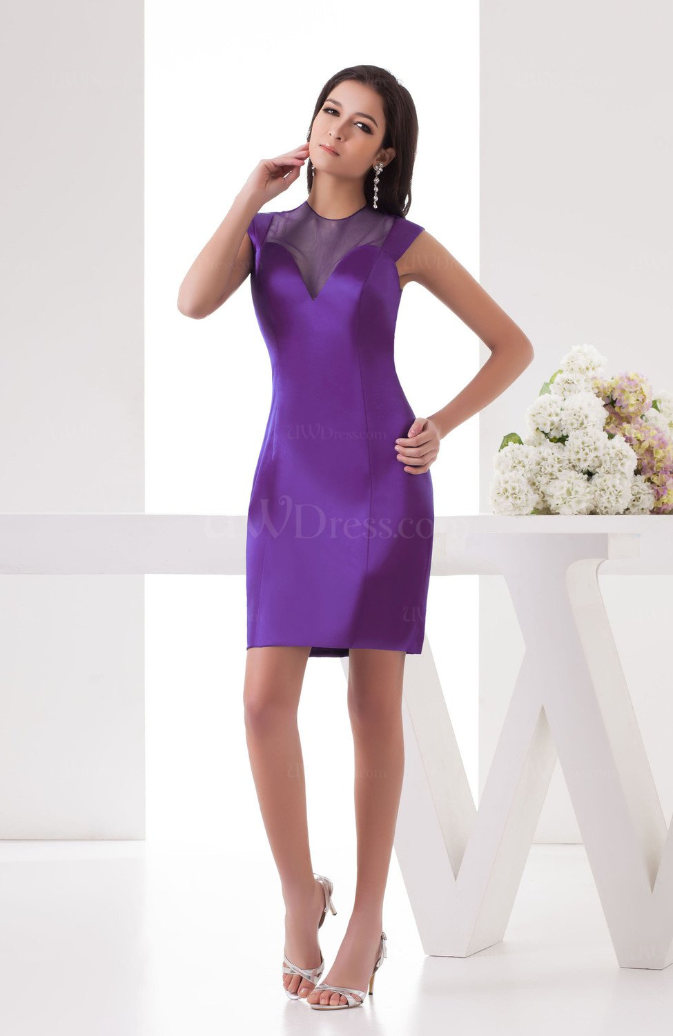 Casual wedding guest dress inexpensive sheer dream petite for Wedding guest petite dresses