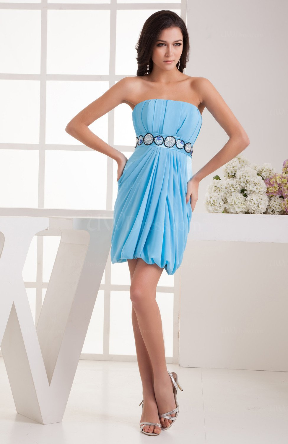 Chiffon bridesmaid dress inexpensive trendy chic mini Inexpensive chic