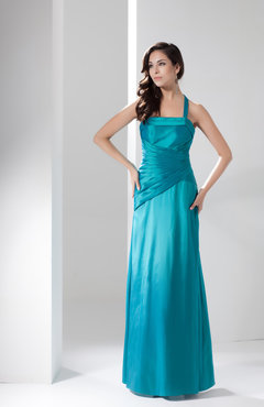 Peacock Inexpensive Bridesmaid Dress Country Apple Halter Destination Low Back