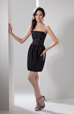 Black Casual Mother of the Bride Dress Inexpensive Dream Pretty Strapless Autumn
