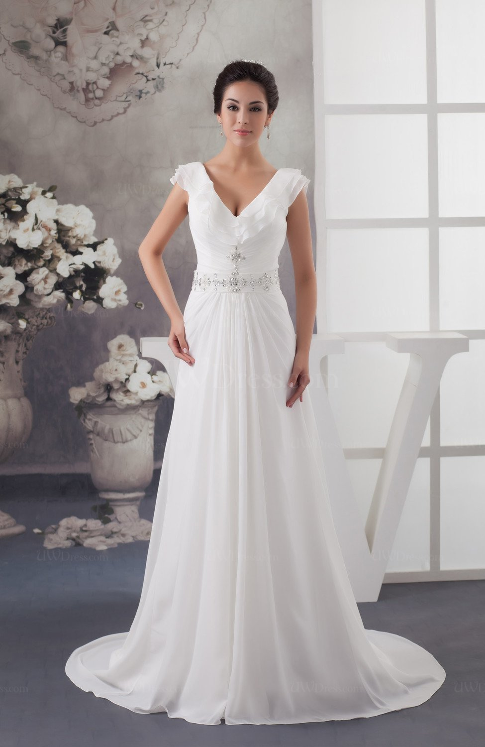 Long Mother of the Bride Dress Inexpensive Pretty Hourglass Full ...
