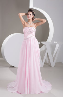 Baby Pink Long Evening Dress Formal Unique Amazing Classy Sparkly A line Plus Size