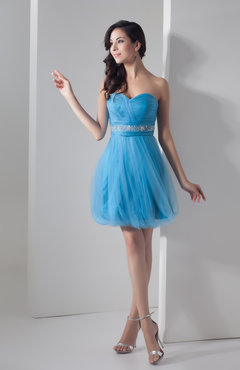 Inexpensive Bridesmaid Dress Short A line Classy Mini Informal Petite
