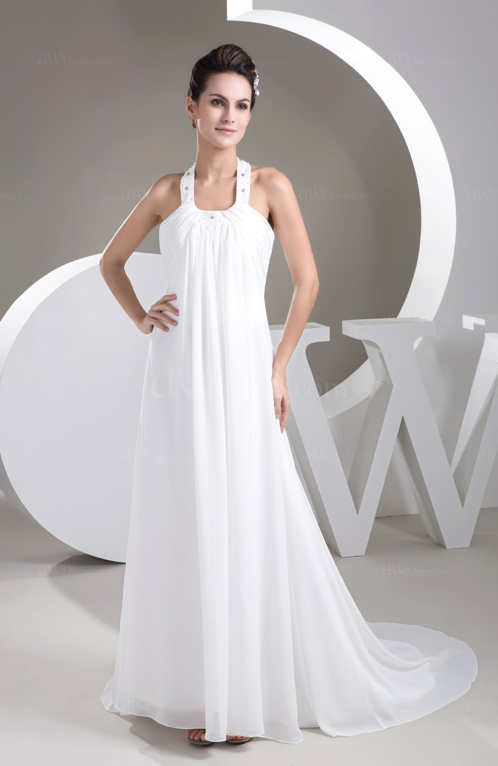 White vintage bridal gowns inexpensive informal casual for Free wedding dresses low income