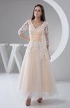 Lace Prom Dress Vintage Ankle Length Disney Princess Long Sleeve Winter