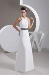 Chiffon Bridesmaid Dress Long A line Plain Trendy Garden Modern Spring