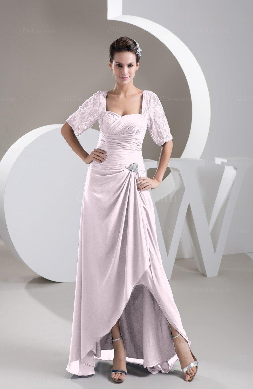 Blush with Sleeves Bridesmaid Dress Chiffon Classy Apple Trendy ...