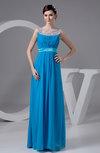 Chiffon Bridesmaid Dress Unique Sheer Illusion Full Figure Modern Plus Size