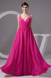 Chiffon Bridesmaid Dress Long Semi Formal Sash Simple Formal Full Figure