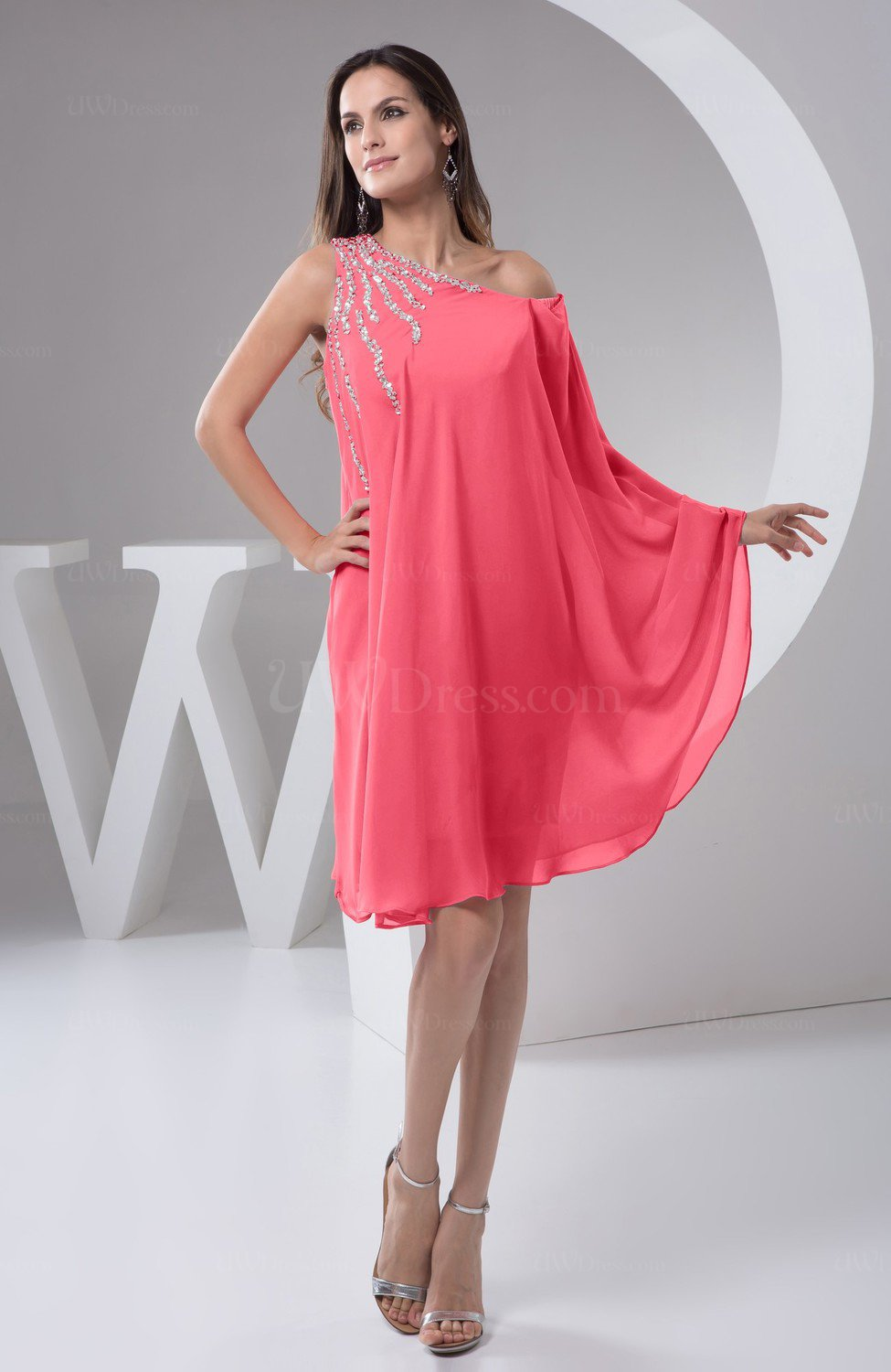 Guava Chiffon Bridesmaid Dress Maternity Outdoor Plus Size Autumn A ...