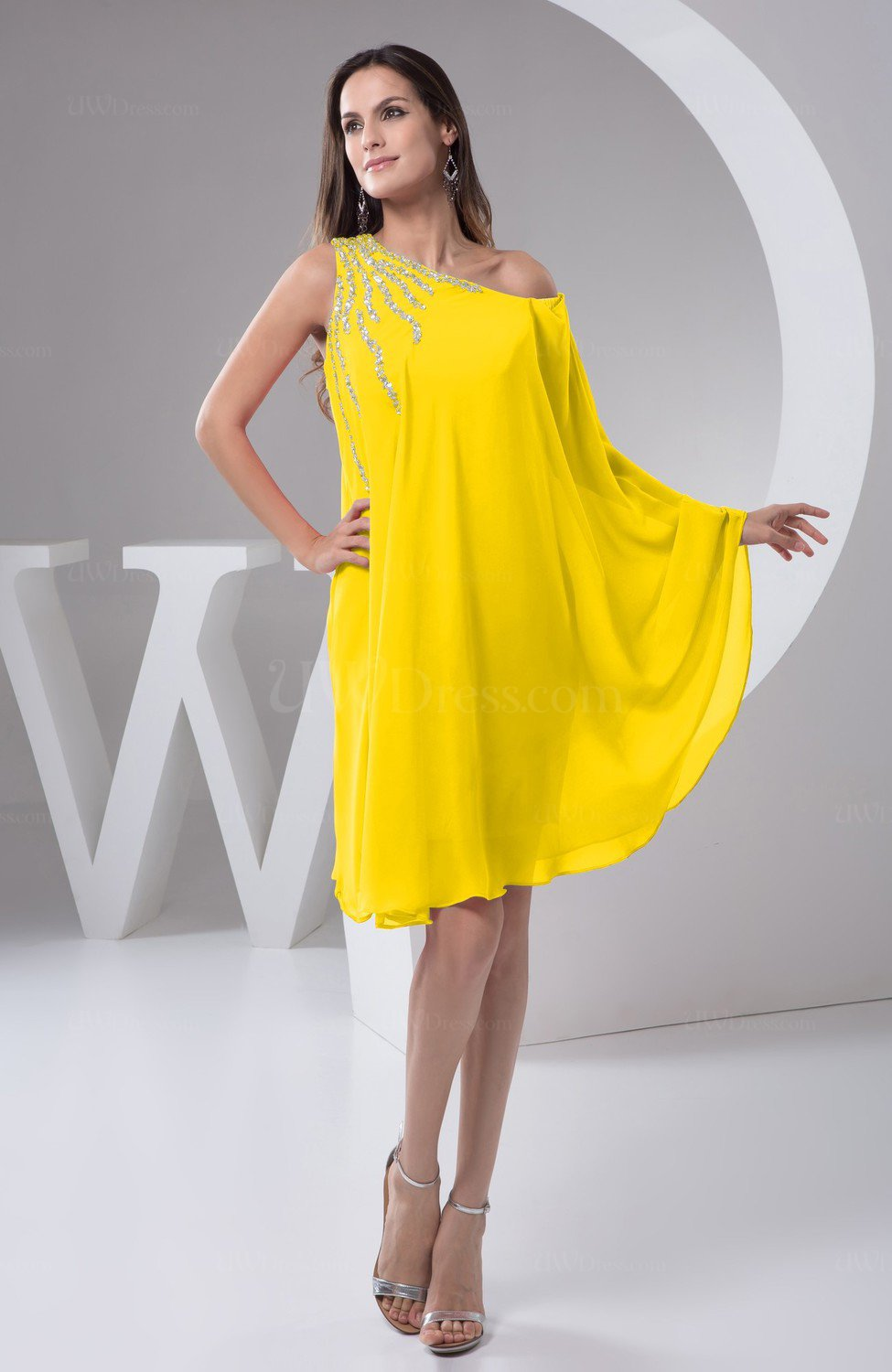 Yellow chiffon bridesmaid dress maternity outdoor plus for Plus size maternity wedding dresses